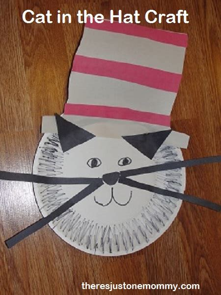 Cat In The Hat Paper Plate Craft - cat in the hat craft there s just one