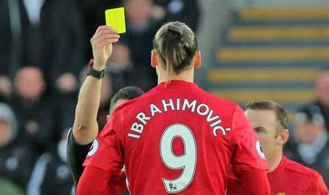 ibrahimovic tattoo yellow card zlatan ibrahimovic confused by one match ban after man utd