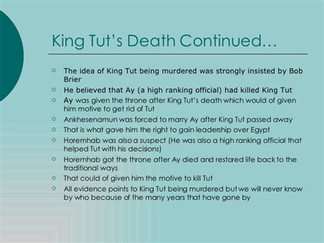 King Tut Essay by King Tut