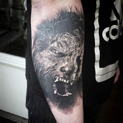 werewolf tattoos for men 80 designs for moon folklore