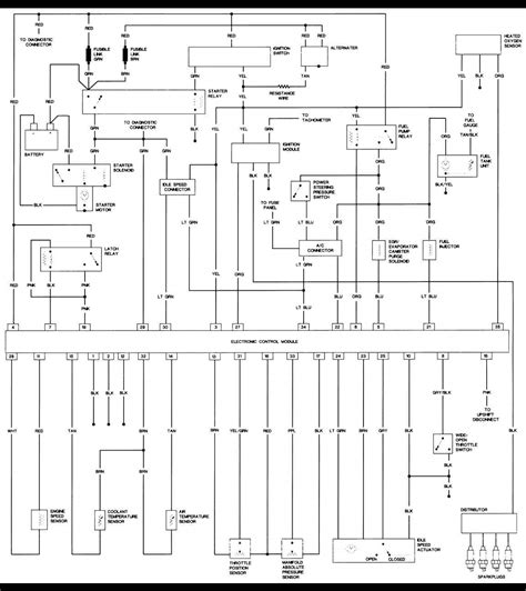 1988 jeep comanche wiring diagram wiring diagram with 1988 jeep wrangler 2 5l engine large freeautomechanic