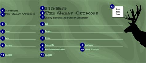 great outdoors gift certificate ticketprinting com