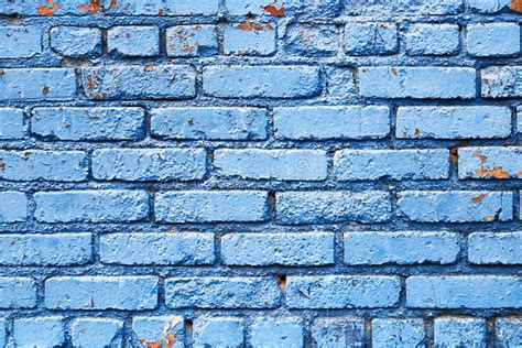 blue brick wall with peeling paint background texture stock photo image 41537368