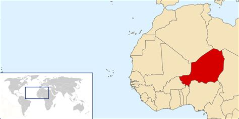 africa map niger niger detailed location map detailed map of niger
