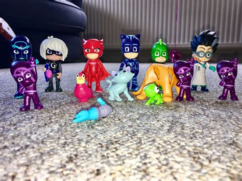 pj masks figures pj masks deluxe figure set what mummy thinks