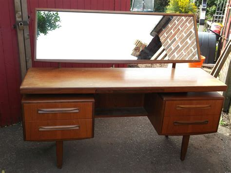 plan teak vintage retro dressing table desk sideboard