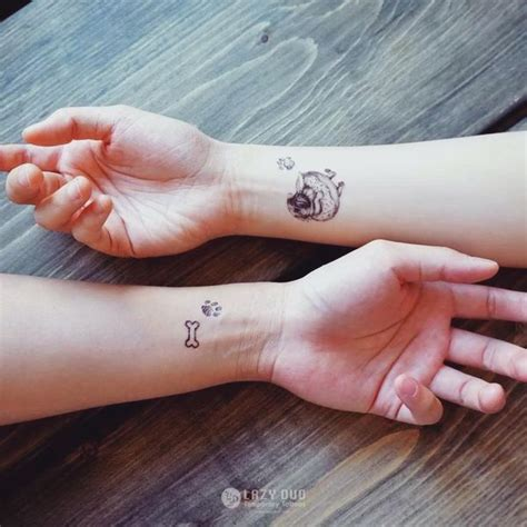 dog bone tattoo best friend tattoos ideas matching friendship symbols