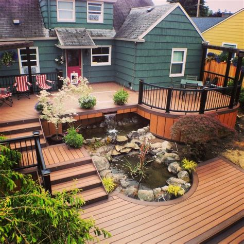 backyard wood patio 1000 images about multi level deck on pinterest patio