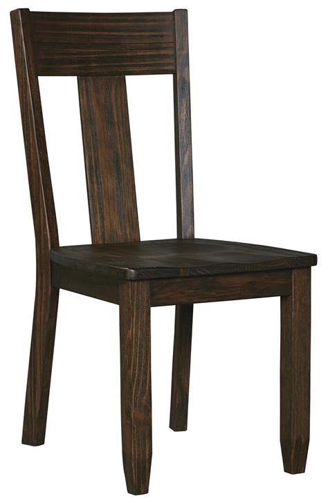 solid wood dining room chairs solid wood pine dining room side chair by signature design