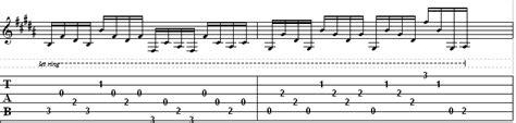 strumming pattern simple man riff a day