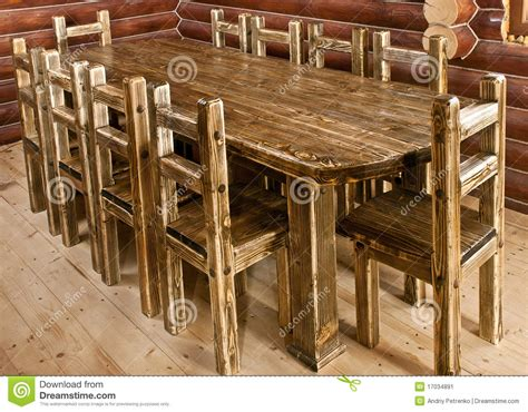 handmade large kitchen table stock image image 17034891
