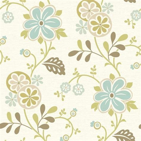 modern floral wallpaper amelie blue modern floral trail wallpaper bolt