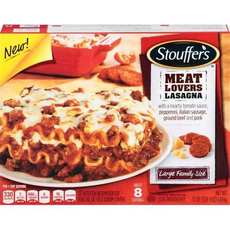 Lasagna Beef Size Family stouffer s 174 large family size lasagna wal mart shoplocal