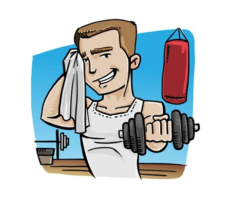 fitness clipart vector illustration of a fitness vector characters
