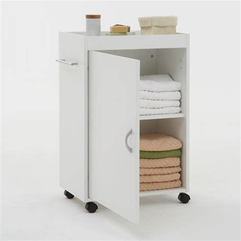 Bathroom Storage Trolley Cordoba Bathroom Storage Trolley In White 6623 Furniture In
