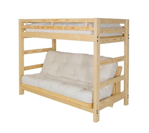 Futon Bunk Bed Wood Xl Xl Futon Bunk Bed With Optional Golden Oak Finish Ebay