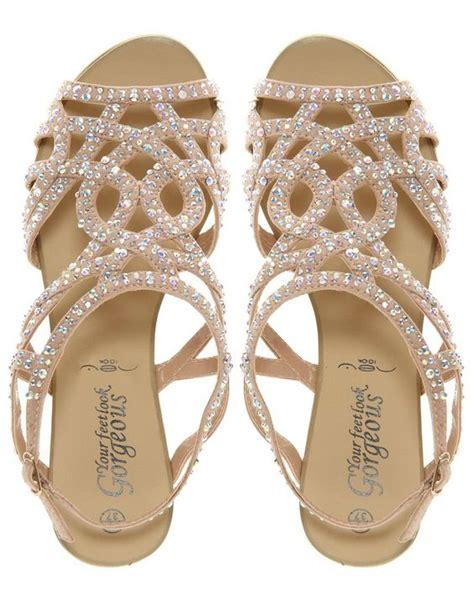 Rhinestone Flats For Wedding by Rhinestone Sandals For Wedding Crafty Sandals