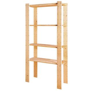 stor 4 shelf pine shelving