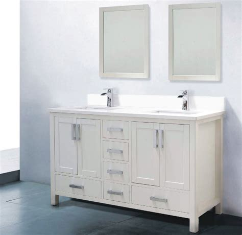 White Bathroom Vanity by Astoria 60 Inch White Sink Bathroom Vanity Solid Wood