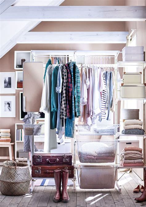 fashionable open wardrobe  simple organizing home