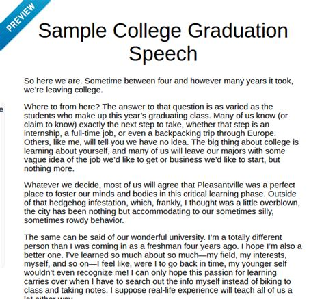 Best Speech Essay by Best Graduation Speech Written By Student Student Essay