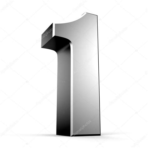 a i 3d number 1 from my metal number collection stock photo