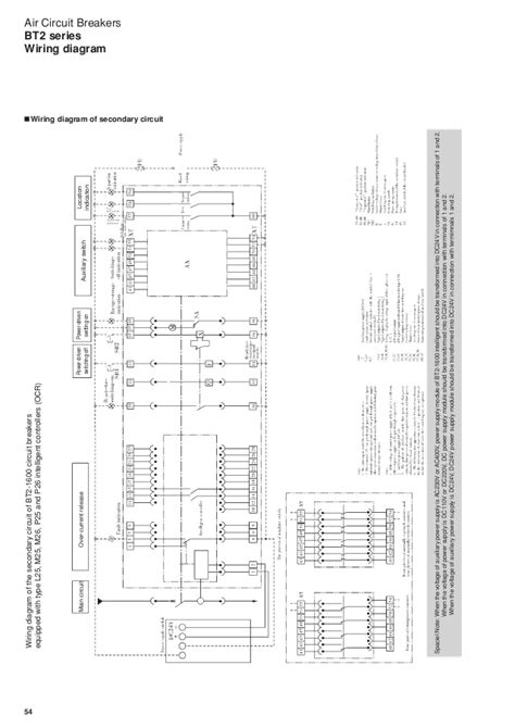 wiring diagram of air circuit breaker k