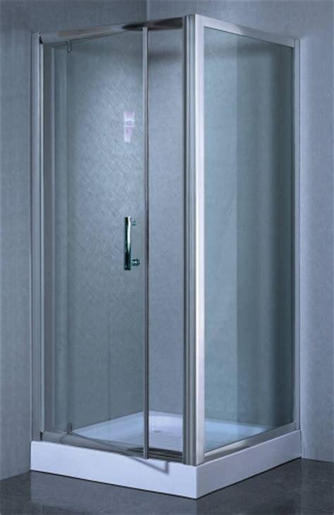 Shower Door And Frame Corner Shower Enclosure Partial Frame W Hinged Door Aluminum Frame