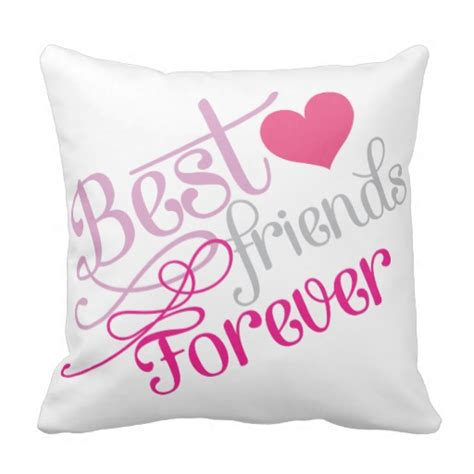 Friend Pillow by Bff Fashion Best Friends Forever With Photo Pillow Zazzle