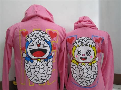 Kaos Lengan Panjang Doraemon Pink jaket baju aiyushop