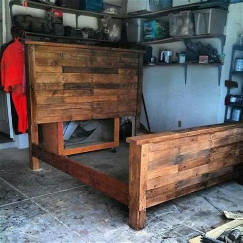 diy pallet bed frame how to build a king size bed frame out of pallets woodworking projects plans