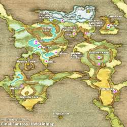 Ff2 World Map by 187 Final Fantasy Ii World Map
