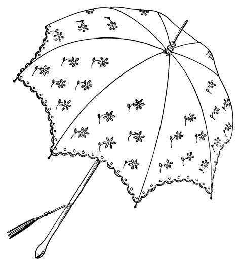 Pretty Parasols Clip Art   Old Design Shop Blog