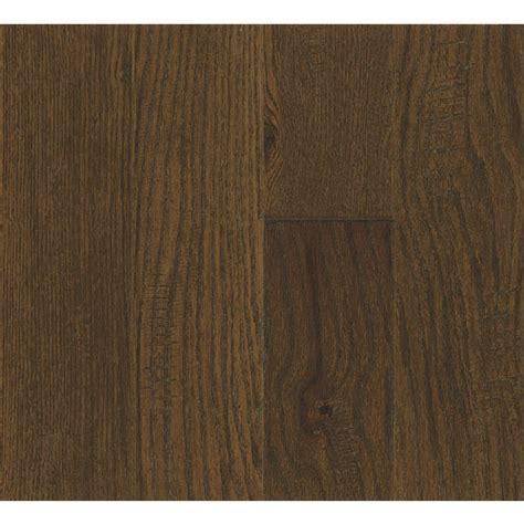 hardwood flooring lowes handscraped bruce lock fold calico brown hardwood