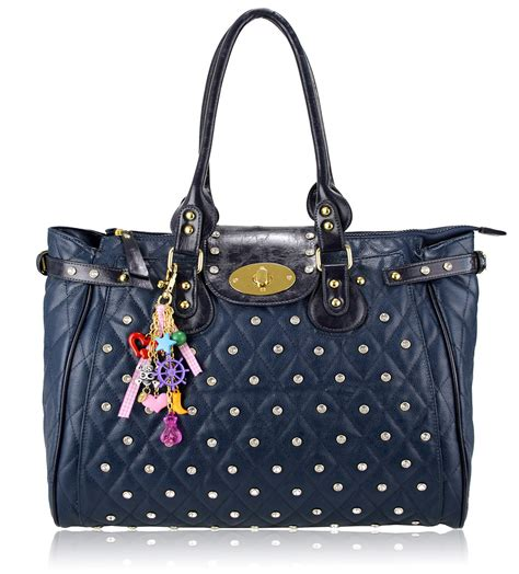Quilted Totes Wholesale by Wholesale Bag Navy Quilted Tote Bag With Decoration