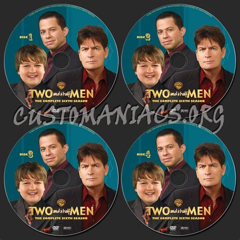 Two Season6 two and a half season 6 dvd label dvd covers