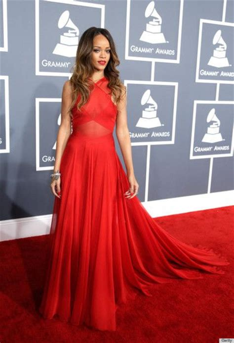 Dress Rihanna dress rihanna grammys and chiffon dresses