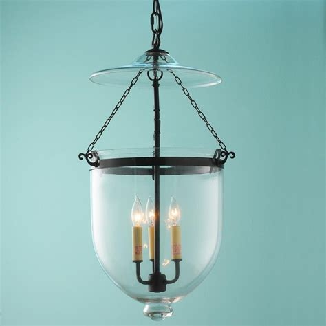 Outdoor Ceiling Lights Clear Glass Smoke Bell Lantern Outdoor Hanging Lights By Shades Of Light