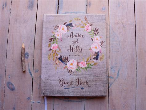 Guest Book Design For Wedding by Fall Wedding Guest Book Autumn Wedding Guestbook Custom