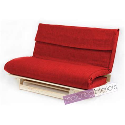 futon faltbar rot doppel 2 sitzer stoff complete futon holz basis