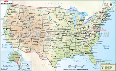 map usa major cities buy usa wall map with major cities