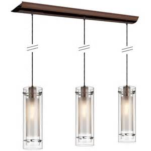Lowes Kitchen Pendant Lights Shop Dainolite Lighting Stem 35 In W 3 Light Brushed Bronze Kitchen Island Light With Clear