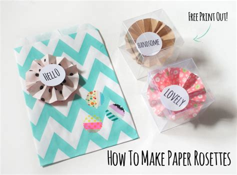 How To Make A Poster Out Of Paper - diy how to make paper rosettes free print out miss v