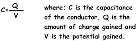 capacitor equation units capacitance and capacitors