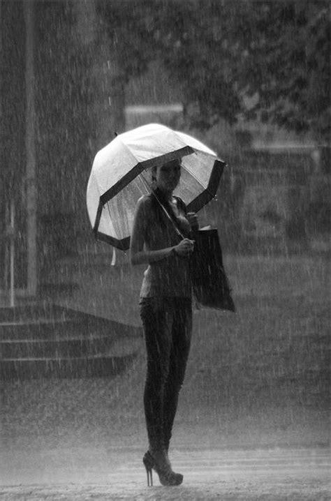 pretty girls images  rain great inspire