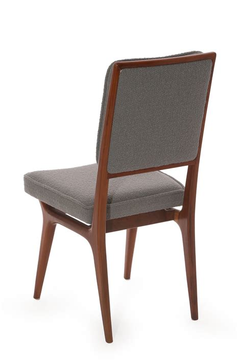 Upholstered Dining Chairs For Sale Six Sculpted Walnut And Upholstered Dining Chairs For Sale At 1stdibs