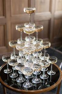 Gatsby Cocktail Party - champagne tower food and drink styling pinterest