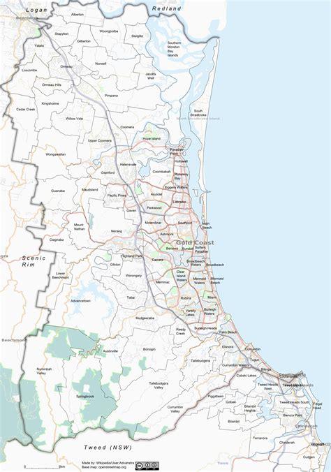 suburbs of map gold coast suburbs