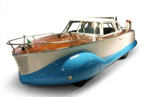 car with boat the fiat 1110 boat car a boat on wheels italian ways
