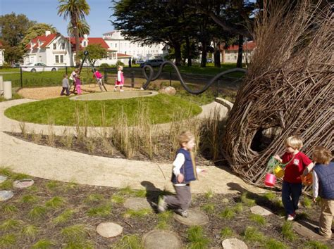 natural backyard playscapes cow hollow school natural playscape san francisco california surface design 2010